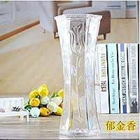 Willsego Bambú florero de bambú Hoja de Vidrio Botella hidropónica Transparente decoración decoración, Seis Estrellas