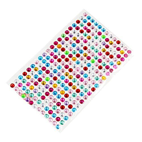 Supvox 4 fogli adesivi strass autoadesivi artigianali gioielli strass di cristallo gemme adesivi per fai da te trucco viso carnevale scrapbooking abbellimenti nail art decor