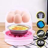 Majome Rapid Egg Cooker Steamer Elektrische Eierkocher Boiler 6 Egg Kapazität Removable Tray