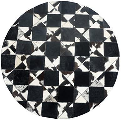 D&D Tappeto rossoondo soggiorno, bianco tappeto in similpelle bianco soggiorno, nero antiscivolo tappeto senza polvere soggiorno camera da letto di alta qualità (5 dimensioni) (dimensioni   Diameter200cm) c69e16