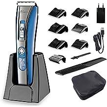 HATTEKER Haarschneider Herren Profi Haarschneidemaschine Bartschneider Haartrimmer Präzisionstrimmer Männer für Akku- und Netzbetrieb Wiederaufladbare USB