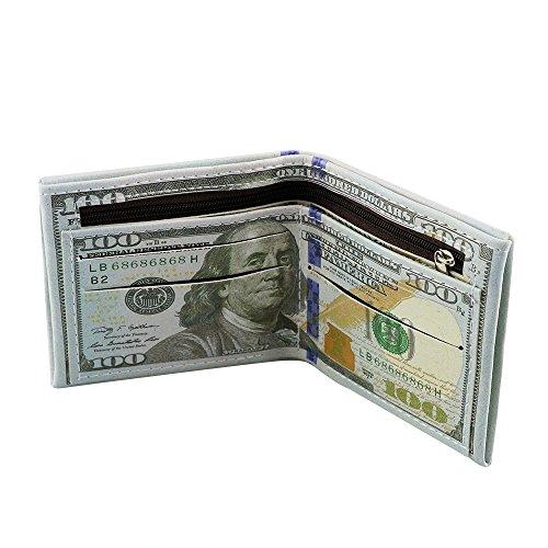 2018 Cartera Pequeños de Piel con Cremallera Monedero Dólares para J