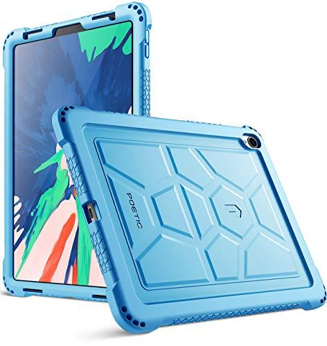 Poetic Custodia Apple iPad PRO 11 - Custodia Apple iPad PRO 11[Serie Turtle Skin] - [Protezione Angolo/Paraurti] [Presa] [Suono-Amplificazione] Custodia Protettiva in Silicone Apple iPad PRO 11,Blu