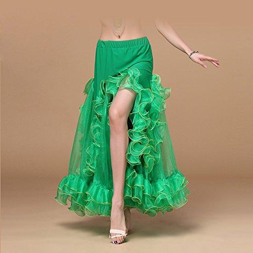 Beruf Frau Bauchtanzkostüm Indisch Tanz Kostüm Tanz Big Swing Rock Tanzwettbewerb Vorstellung,Green