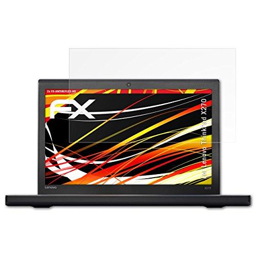 atFolix Schutzfolie kompatibel mit Lenovo ThinkPad X270 Bildschirmschutzfolie, HD-Entspiegelung FX Folie (2X)