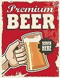 Ducomi® Hangover Collection – Kennzeichen Metall Deko Wand Bedruckt Vintage-Bier, Wein, Spirituosen und Getränke, Dekoration Wand Blechschild – 30 x 20 cm (227)
