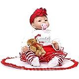 NPK Collection Reborn Baby Doll Soft Silicone 22inch 55cm Newborn Baby Doll realista muñeco de vinilo muñecas vestido rojo