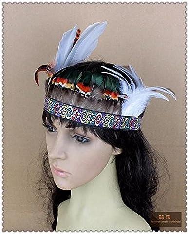 Nines Costumes - Fait main indien Bibi sur serre-tête avec