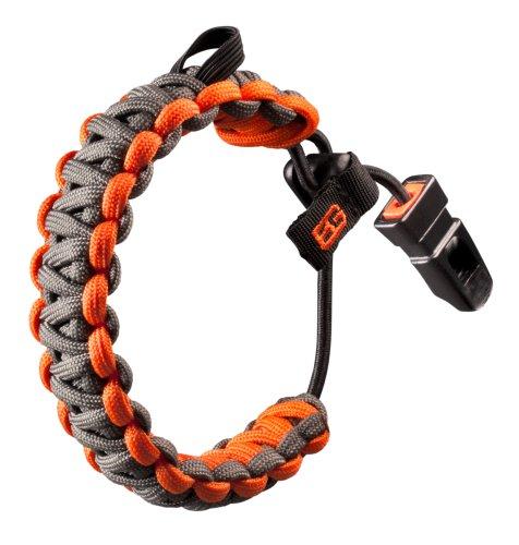 Gerber Erwachsene Armband Survival - Bear Grylls Bracelet Signalhörner Und Pfeifen, grau/Orange, One Size