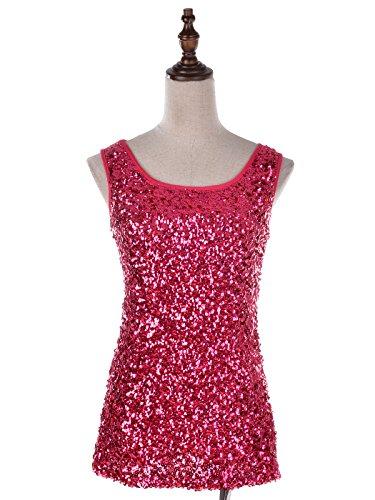 Anna-Kaci femmes brilliant charmant paillettes embelli soirée veste Rose - Rose