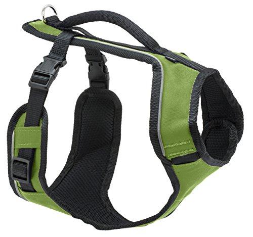 PetSafe Easy Sport Hundegeschirr L grün, extra Tragekomfort, Reflektoren, Geschirrgriff, für große Hunde (Extra-großes Hundegeschirr)