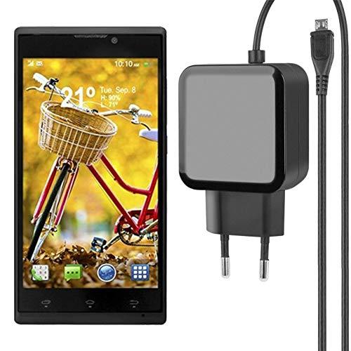 Fontastic Essential Ladegerät Micro-USB für Woxter Zielo Z-820 HD - Schwarz - 1,2m - 2,4A