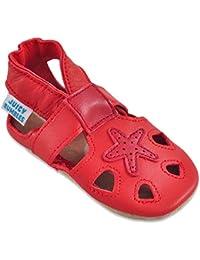 ed1f14bc4441f Sandales Bébé Cuir Souple - Chaussons Cuir Bébé - Chaussures Bebe Fille - Chaussures  Enfant Garçon