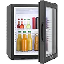 Klarstein MKS-13 nevera minibar vinoteca (32 litros, silenciosa, puerta transparente) - negro
