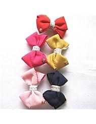 Lindo bebé niña variedad de vendas de color opciones clip superior horquilla de estilo salvaje (un conjunto de 5 piezas) , c