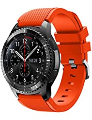 Montres bracelet Covermason Bande de sport Silicone Bracelet sangle pour engins Samsung S3 Frontier (Orange)