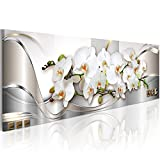 murando Bilder Blumen Orchidee 135x45 cm - Vlies Leinwandbild - 1 Teilig - Kunstdruck - Modern - Wandbilder XXL - Wanddekoration - Design - Wand Bild - Orchidee Blumen b-A-0086-b-b