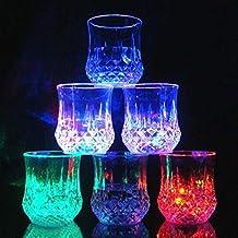 FastDirect Vaso de Plástico Copa de Luz Nocturna Taza de Cerveza, Whisky, Agua para