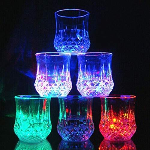 folowe Party Cup Veilleuse à LED pour Mariage, bûches à Whisky Bar Club