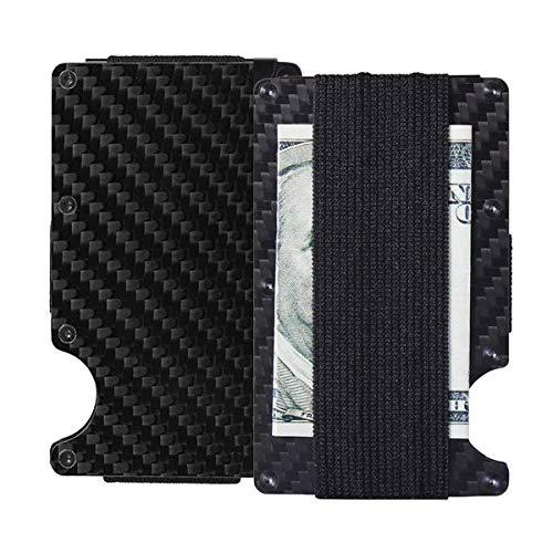 Carbon Fiber RFID Wallet zum Schutz von ID-Karten Kreditkarten Bargeld mit Geld-Clip