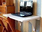 Caoyu CaoyuMultifunktionaler Beistelltisch Klapptisch aus massivem Holz, an der Wand befestigter Speisetisch, einfacher lernender Schreibtisch, (Farbe : Weiß, größe : 60cm*40cm)