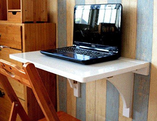 Blanc Salle De Table Pliante Mural Bureau D'ordinateur Tenture Table D'appoint (Taille : 80cm*45cm)