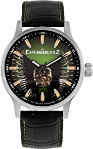 Jacques Lemans Unisex-Armbanduhr The Expendables 2 Analog Quarz Leder E-227