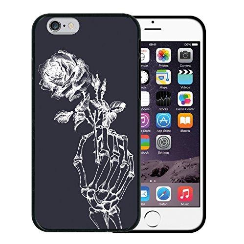iPhone 6 6S Hülle, WoowCase Handyhülle Silikon für [ iPhone 6 6S ] Coloriertes Graffiti Handytasche Handy Cover Case Schutzhülle Flexible TPU - Transparent Housse Gel iPhone 6 6S Schwarze D0367