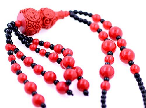 lizzyoftheflowers–lizzyoftheflowers. Handgefertigte groß rot Lack Geld Tasche Anhänger Halskette (Handgefertigte Rote Tasche)