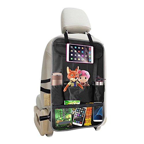 Preisvergleich Produktbild evershop® Auto Sitz Rückseite Organizer, 4. Reise, Aufbewahrungstasche, Auto Rückenlehne Cover Protector mit Tablet Halter, Kick Matte Displayschutzfolie