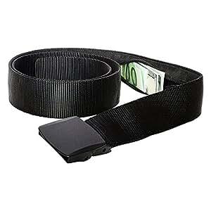 Zero Grid Travel Security Belt - Hidden Money Pouch - Non-Metal Buckle
