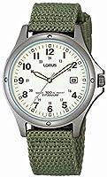 Lorus RXD425L8 - Reloj analógico de caballero de cuarzo con correa textil ver...