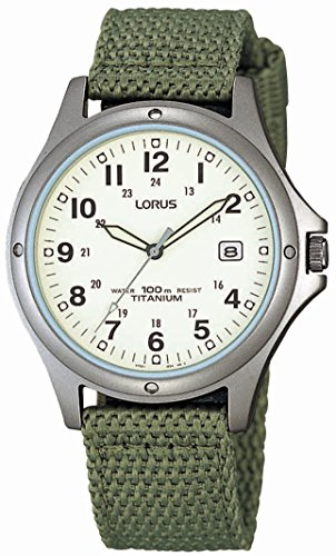 lorus-rxd425l8-mens-analogue-green-canvas-strap-watch