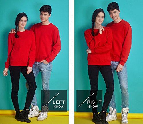 LaoZan Sweatshirt - Manche longue / Col ras du cou - Unisex Sweat-shirt Rouge + hiver