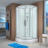 AcquaVapore QUICK26-1000 Dusche Duschtempel Komplette Duschkabine 90x90, EasyClean Versiegelung der Scheiben:2K Scheiben Versiegelung +89.-EUR