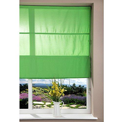 Paralume in tessuto di lusso finestra tenda a pacchetto kit cavo, 100cm verde scuro tinta unita design