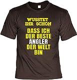 Witziges Sprüche Angler T-Shirt : der Beste Angler - Papa Geschenk Geburtstagsgeschenk Geschenkidee Weihnachten Freizeit Gr: XXL