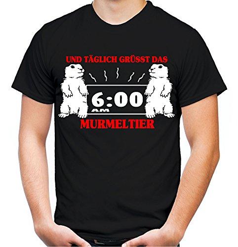 Täglich grüsst Das Murmeltier Männer und Herren T-Shirt | Spruch Bill Murray Geschenk (XXXL, ()