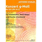 Concierto G (en la menor para 2Violon Botticelli, streich Orquesta Y BC RV531: para violonchelo, Contrabajo y Piano Voces