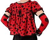 Marienkäfer Kostüm in schwarz-rot für Damen | Gr. 34 | 2-teiliges Käfer Kostüm für Damen | Plüsch Kostüm für Frauen | Tier Plüsch Kostüm für Karneval -