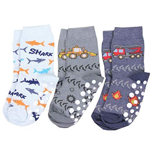 TupTam Unisex Baby Stoppersocken ABS Socken 3er Set, Farbe: Junge 2, Größe: 27-30