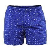 Costume Uomo Mare Pantaloncino Boxer Corto Blu con Ancore Bermuda da Bagno Piscina Shorts con Tasche Elastico Calzoncino Mare Piscina Nuoto Spiaggia Ancora (M)