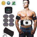 Nitoer EMS Elektrostimulation Muskel Trainer,Bauchmuskeltrainer,Muskelstimulator,USB Wiederaufladbar Elektrostimulatoren Massagegerät,Stärkung der zentralen seitlichen Bauchmuskulatur