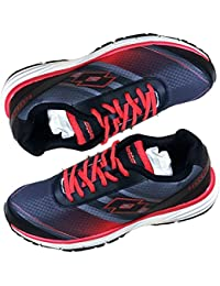 Leather Shoes Men Lotto Adriano Red Snicar Running Shoe - 8