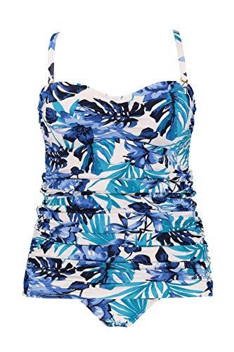 Ulla Popken Damen große Größen Badekleid Multicolor 54 718128 90-54