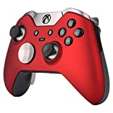 Xbox One Elite Controller   7 Watts Rapid Fire Mod   Solid Red Soft Touch Shell