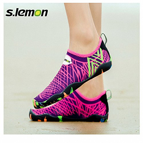 S.lemon Männer Frauen Wasser Schuhe Quick Dry Aqua Schuhe zum Schwimmen Walking Yoga Red