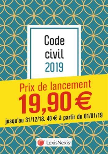Code civil 2019 - Galapagos: Prix de lancement jusqu'au 31/12/2018, 40.00 ¤ à compter du 01/01/2019 par Laurent Leveneur