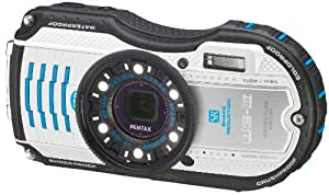 Pentax WG-3 Waterproof Digital Camera - White/Blue (16MP, 4x Optical Zoom) 3 inch LCD