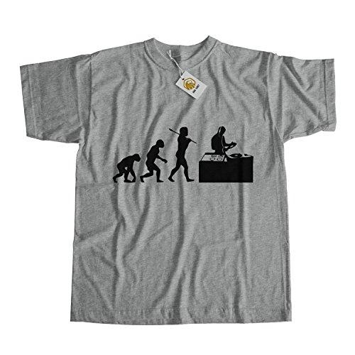 Dj Shirt Dj Evolution Shirt Music Tees Unisex Outfit Grau